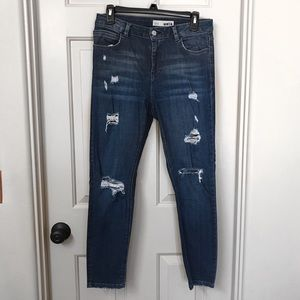 TOPSHOP MOTO Distressed Jeans